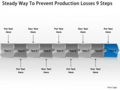 Steady Way To Prevent Production Losses 9 Steps Ppt Open Source Uml PowerPoint Slides