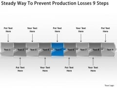 Steady Way To Prevent Production Losses 9 Steps What Is Flow Chart Used For PowerPoint Slides