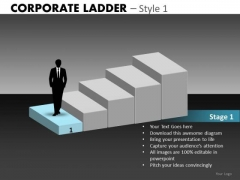 Step 1 Business Ladder PowerPoint Templates
