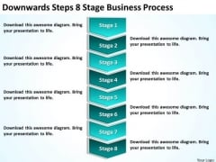 Steps 8 Stage Business Process Plan Executive PowerPoint Templates