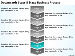 Steps 8 Stage Business Process Ppt Plan Template For PowerPoint Slides