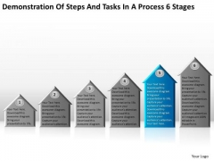 Steps And Tasks In Process 6 Stages Business Plan Models PowerPoint Slides