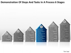 Steps And Tasks In Process 6 Stages Detailed Business Plan PowerPoint Slides