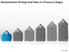 Steps And Tasks In Process 6 Stages How To Do Business Plan PowerPoint Templates