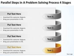 Steps In A Problem Solving Process 4 Stages Creating Business Plan PowerPoint Templates