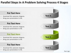 Steps In A Problem Solving Process 4 Stages Nightclub Business Plan PowerPoint Slides