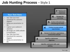 Steps Of Job Hunting Process PowerPoint Slides And Ppt Diagram Templates