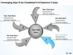 Steps To Be Completed In A Sequence 5  Circular Process Diagram PowerPoint Templates