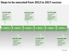 Steps To Be Executed From 2012 To 2017 Success PowerPoint Templates Ppt Slides Graphics