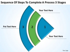 Steps To Complete A Process 3 Stages Business Plan PowerPoint Templates