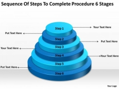 Steps To Complete Procedure 6 Stages Business Continuity Plans PowerPoint Templates