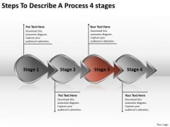 Steps To Describe A Process 4 Stage Bank Business Plan PowerPoint Templates