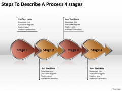 Steps To Describe A Process 4 Stage Writing Your Business Plan PowerPoint Slides