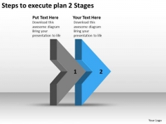 Steps To Execute Plan 2 Stages Ppt Non Profit Business Sample PowerPoint Slides