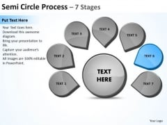 Steps World Business PowerPoint Templates Strategy Circular Flow Chart Slides