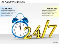 Stock Photo 24 7 Shift Work Schedule Ppt Template