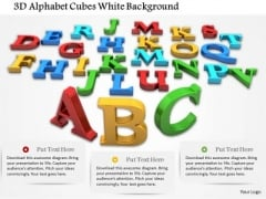Stock Photo 3d Alphabet Cubes White Background PowerPoint Slide
