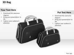 Stock Photo 3d Black Bags For Travel PowerPoint Slide