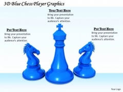 Stock Photo 3d Blue Chess Player Graphics PowerPoint Template