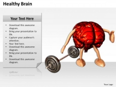 Stock Photo 3d Brain With Legs And Arms And Weight PowerPoint Slide