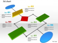 Stock Photo 3d Chart With Six Stages PowerPoint Slide