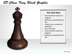 Stock Photo 3d Chess King Black Graphic PowerPoint Template