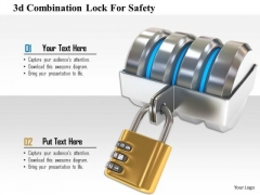 Stock Photo 3d Combination Lock For Safety Image Graphics For PowerPoint Slide