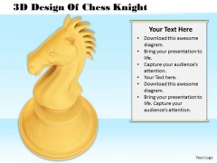 Stock Photo 3d Design Of Chess Knight PowerPoint Template
