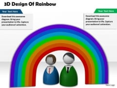 Stock Photo 3d Design Of Rainbow PowerPoint Template