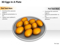 Stock Photo 3d Eggs In A Plate Food PowerPoint Slide