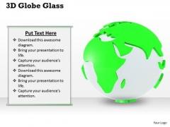 Stock Photo 3d Globe Glass Green Environment PowerPoint Slide
