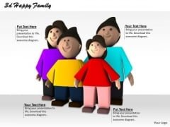 Stock Photo 3d Graphic Of Happy Family PowerPoint Slide