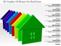 Stock Photo 3d Graphic Of Houses For Real Estate PowerPoint Slide