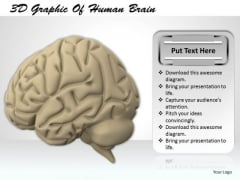 Stock Photo 3d Graphic Of Human Brain PowerPoint Template