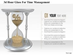 Stock Photo 3d Hour Glass For Time Management Image Graphics For PowerPoint Slide