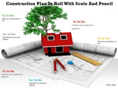 Stock Photo 3d House Model Construction Plan PowerPoint Slide