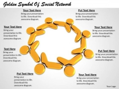 Stock Photo 3d Human Icons For Social Network PowerPoint Slide