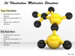 Stock Photo 3d Illustration Molecular Structure PowerPoint Template