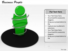 Stock Photo 3d Illustration Of Green Human Character PowerPoint Slide