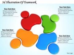 Stock Photo 3d Illustration Of Teamwork PowerPoint Template