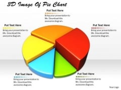 Stock Photo 3d Image Of Pie Chart Ppt Template