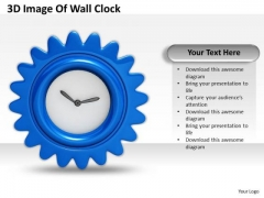 Stock Photo 3d Image Of Wall Clock Ppt Template