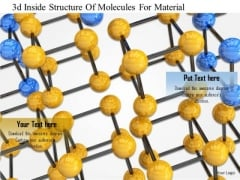 Stock Photo 3d Inside Structureof Molecules For Material PowerPoint Slide