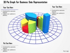 Stock Photo 3d Pie Graph For Business Data Representation PowerPoint Slide