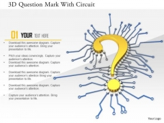Stock Photo 3d Question Mark With Circuit PowerPoint Slide