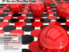 Stock Photo 3d Red And Black Floor Design Ppt Template