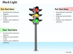 Stock Photo 3d Traffic Light PowerPoint Slide