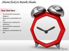 Stock Photo Alarm Clock In Metallic Shades Ppt Template