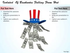 Stock Photo American Banknotes Falling From Hat PowerPoint Slide