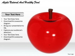 Stock Photo Apple Natural And Healthy Food PowerPoint Template